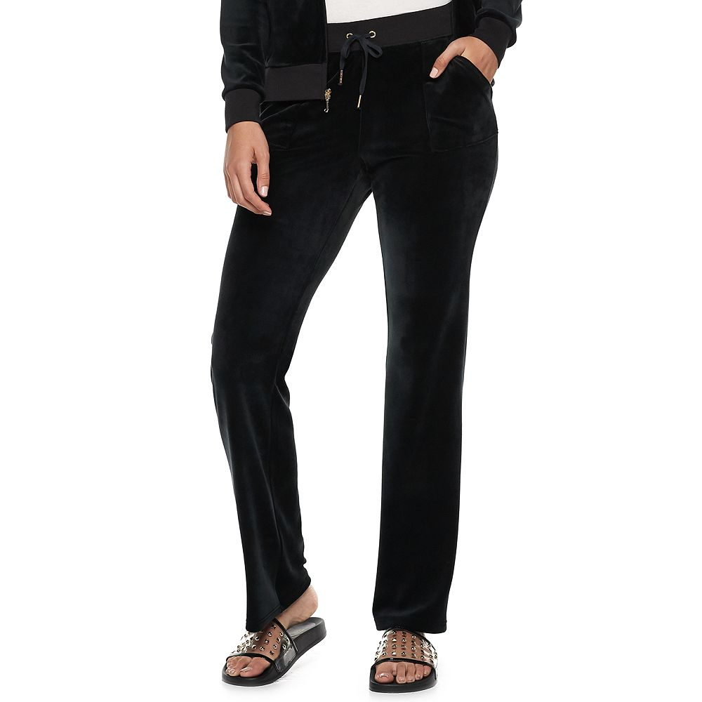 Women's Juicy Couture Velour Midrise Bootcut Pants