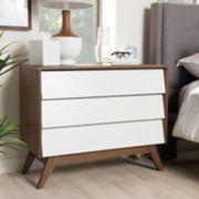Baxton Studio Hildon 3-Drawer Dresser