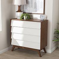 Baxton Studio Hildon 4-Drawer Dresser