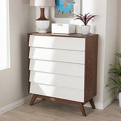 Baxton Studio Hildon 5-Drawer Dresser
