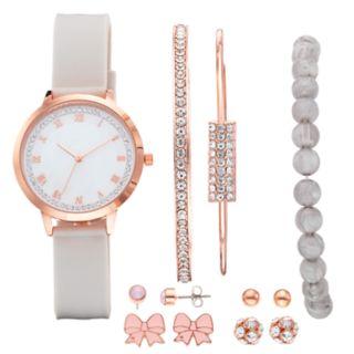Studio Time Women's Crystal Watch, Bracelet & Stud Earring Set