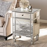 Baxton Studio Claudia Mirrored Nightstand