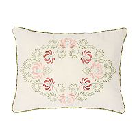 Always Home Eve Embroidered Oblong Throw Pillow