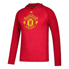 Men's adidas Manchester United Pitch Street Hooded Tee