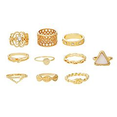 Mudd® Textured Ring Set