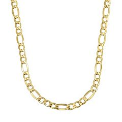 Everlasting Gold 14k Gold Figaro Chain Necklace