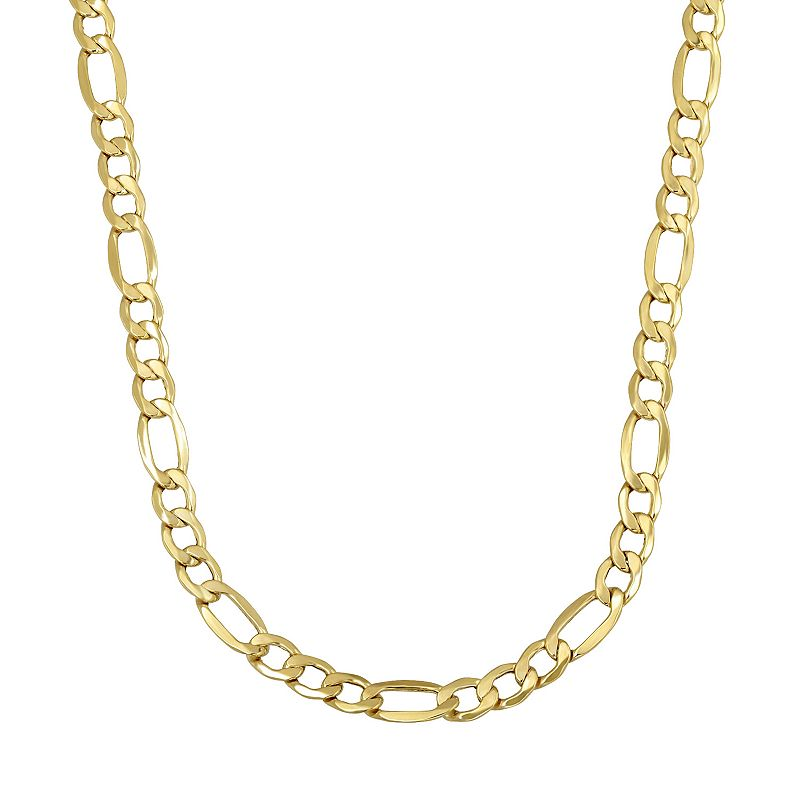 """Everlasting Gold 14k Gold Figaro Chain Necklace, Women's, Size: 24"""", Yellow"""