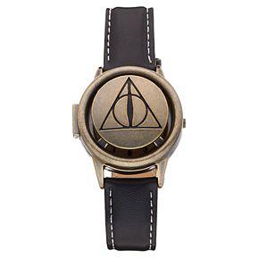 Harry Potter Deathly Hallows Symbol Spinner Flip-Up Lid Watch