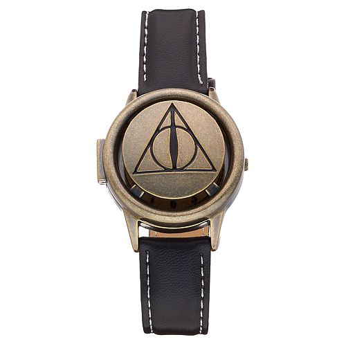 Harry Potter Deathly Hallows Symbol Spinner Flip-Up Lid Watch