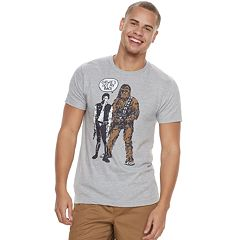 Men's Star Wars Han Solo & Chewbacca Tee