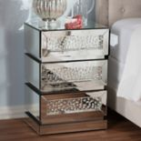 Baxton Studio Sabrina Mirrored Nightstand