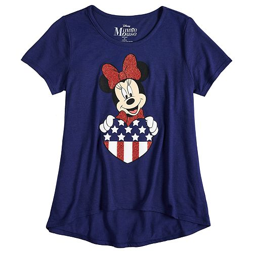 Disney's Minnie Mouse Girls 7-16 Heart Graphic Tee