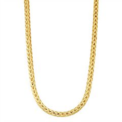Men's 14k Gold Over Silver Wheat Chain Necklace