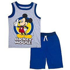 Disney's Mickey Mouse Toddler Boy Ringer Graphic Tank Top & Shorts Set