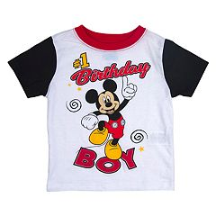Disney's Mickey Mouse Toddler Boy '#1 Birthday Boy' Colorblock Graphic Tee