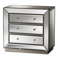 Baxton Studio Edeline Mirrored Dresser
