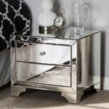 Baxton Studio Farrah Mirrored Nightstand