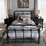 Baxton Studio Mandy Industrial Platform Twin Bed