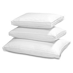 Royal Majesty Silk & Cotton Damask Stripe Side Sleeper Double Cover 500 Thread Count Pillow