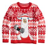 Boys 8-20 Llama Fairisle Sweater