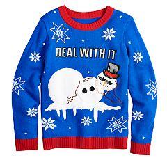 Boys 8-20 Snowman Sweater