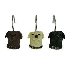 Bacova Woodland Dogs Shower Curtain Hooks