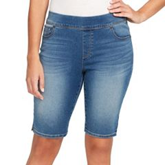 Petite Gloria Vanderbilt Avery Pull-On Bermuda Jean Shorts