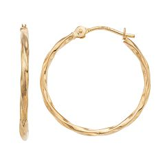 Forever 14K Twisted Hoop Earrings