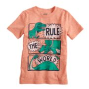 "Boys 4-12 Jumping Beans® Dinosaurs ""Rule The World"" Softest Graphic Tee"