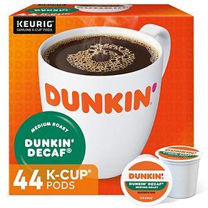 Dunkin' Donuts Decaf Coffee, Keurig® K-Cup® Pods, Medium Roast - 44-pk.
