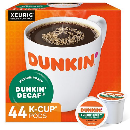 ebb2baa8cef7d Keurig® K-Cup® Pod Dunkin' Donuts Medium Roast Decaf Coffee - 48-pk.