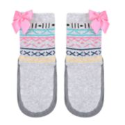 Baby Girl Jumping Beans® Fairisle & Bow Slipper Socks