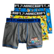 Boys 6-12 Minecraft Steve 3-Pack Boxer Briefs