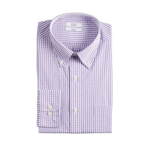 Men's Croft & Barrow® Regular-Fit Easy-Care Button-Down Collar Dress Shirt