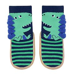 Baby Boy Jumping Beans® Dinosaur Slipper Socks