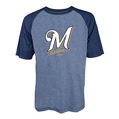 Men's Stitches Milwaukee Brewers Raglan Tee