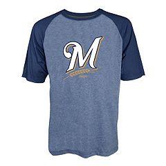 Men's Stitches Milwaukee Brewers Raglan Tee