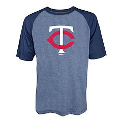 Men's Stitches Minnesota Twins Raglan Tee