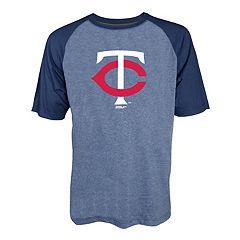 Men's Stitches Minnesota Twins Raglan Tee