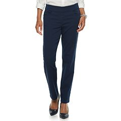 Petite Napa Valley Super Stretch Mid-Rise Pull-On Pants