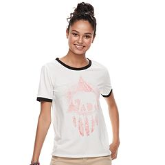 Juniors' THE PRINT SHOP Elephant Dream Catcher Ringer Tee