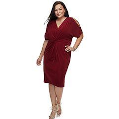 Plus SIze Jennifer Lopez Kimono Midi Dress