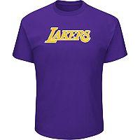 Men's Majestic Los Angeles Lakers Crew Team Tee