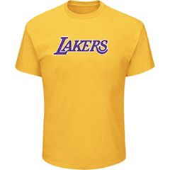Men's Majestic Los Angeles Lakers Crew Team Tee