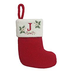 St. Nicholas Square® 8-in. Cross-Stitch Monogram Christmas Stocking