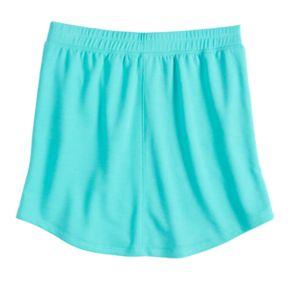 Girls 7-16 SO® Tie-Front French Terry Skater Skirt