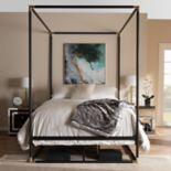 Baxton Studio Eva Canopy Queen Bed