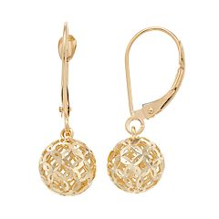 Forever 14K Filigree Ball Drop Earrings