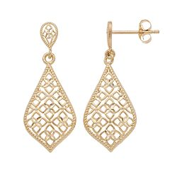 Forever 14K Openwork Teardrop Earrings