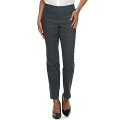 Petite Briggs Slim Panel Mid-Rise Pull-On Pants